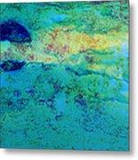 Prescott Blue Abstract Metal Print