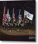 Presenting The Colors On Horseback Metal Print