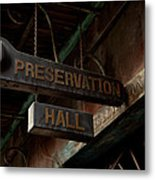Preservation Hall Jazz Club Metal Print