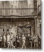 Preservation Hall Sepia Metal Print