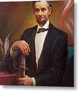 President Abraham Lincoln Metal Print by Svitozar Nenyuk