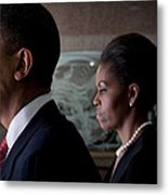 President And Mrs Obama Metal Print
