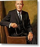 President Dwight D. Eisenhower By J. Anthony Wills Metal Print