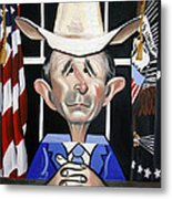 President George W Bush You Been Cubed Metal Print