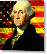 President George Washington V2 Metal Print by Wingsdomain Art and Photography