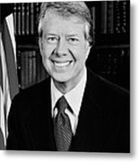 President Jimmy Carter  Metal Print by War Is Hell Store