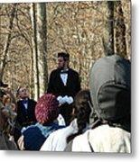 President Lincoln Speaks Metal Print