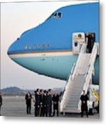President Obama, Osan Air Base, Korea Metal Print
