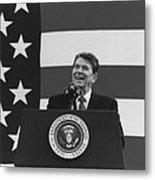 President Reagan American Flag  Metal Print