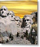 President Reagan At Mount Rushmore Metal Print