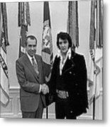 President Richard Nixon And Elvis Metal Print