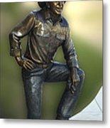 President Ronald Reagan Statue Metal Print