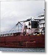 Presque Isle Freighter Metal Print