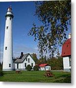 Presque Isle Mi Lighthouse 4 Metal Print