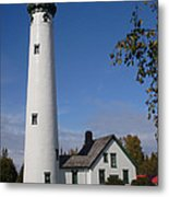 Presque Isle Mi Lighthouse 5 Metal Print
