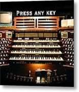 Press Any Key Metal Print