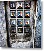 Press Three And Try Again Metal Print