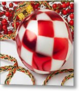 Pretty Christmas Ornament Metal Print