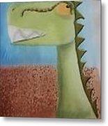 Dinoart Raptor Metal Print