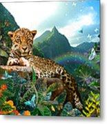 Pretty Jaguar Metal Print by Alixandra Mullins