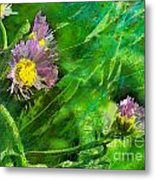 Pretty Little Weeds Photoart Metal Print