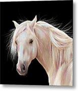 Pretty Palomino Pony Painting Metal Print