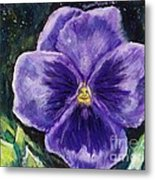 Pretty Purple Pansy Person Metal Print