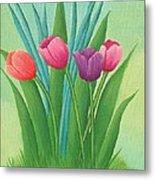 Pretty Tulips Metal Print
