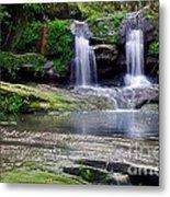 Pretty Waterfalls In Rainforest Metal Print