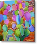 Prickly Pear Cactus-eye Candy Metal Print