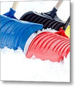 Primary Shovels Metal Print