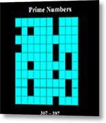 Prime Numbers As Invisible 307  397 Metal Print