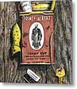 Prince Albert Nailed To The Wall Metal Print