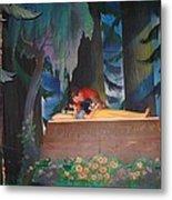 Prince Kisses Snow White Metal Print