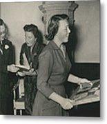 Princess Beatrix Of The Netherlands Receives Her Birthday Metal Print
