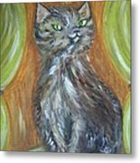 Princess Kitty Metal Print