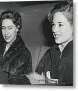 Princess Margaret At The Theatre Metal Print