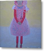 Princess Needs Pink New Hair Metal Print by Elizabeth Stedman