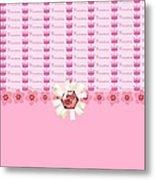 Princess Pink Crowns Metal Print by Debra  Miller