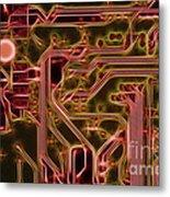 Printed Circuit - Motherboard Metal Print