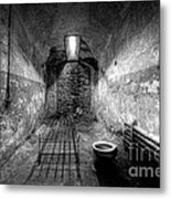 Prison Cell Black And White Metal Print