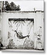 Prison Mural Metal Print
