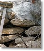 Private Entry Metal Print