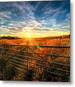 Private Field Metal Print