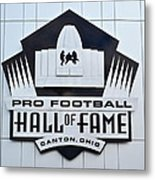 Pro Football Hall Of Fame Metal Print
