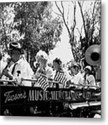 Pro-viet Nam War March Beaver's Band Box Musicians Tucson Arizona 1970 Black And White Metal Print