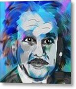 Professor Einstein Metal Print