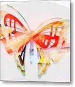 Profound Thought Butterfly Metal Print