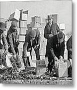 Prohibition Feds Destroy Liquor  1923 Metal Print by Daniel Hagerman