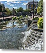 Promenade And Waterfall In Carroll Creek Park In Frederick Mary Metal Print
